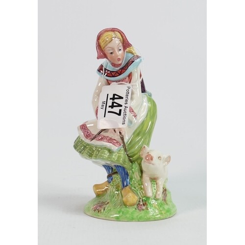 Beswick figure of a lady with pig 1230