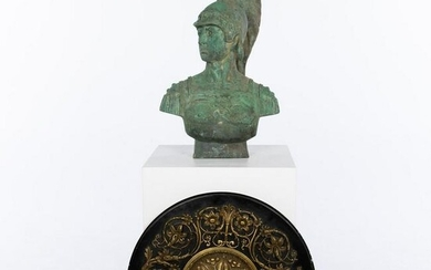 Bronze Bust of a Roman Soldier and a Wall Medallion