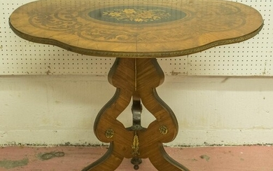 CENTRE TABLE, circa 1860, Louis XV style kingwood, rosewood,...