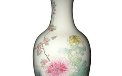 Chinese Famille Rose Flower Vase, Republic Period