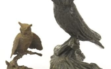 Collection Of Bronze Owl Figurines