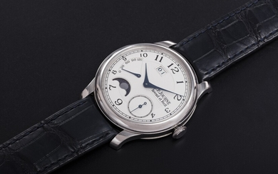 F. P. JOURNE, A PLATINUM WRISTWATCH WITH POWER RESERVE AND MOON-PHASE, OCTA AUTOMATIQUE LUNE