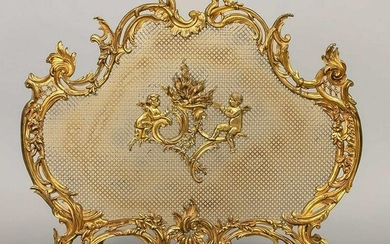 Fireplace screen, end of the 19th