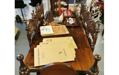 Good Quality Stained Oak & Mahogany Dining Suite - table 93 ...