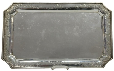 """INTERNATIONAL SILVER 'CAVELL' STERLING 15"""" TRAY"""