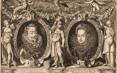 Isselburg (Peter, circa 1568/1580-1630). Double Portrait of the Holy Roman Emperor Matthias and Queen Anna