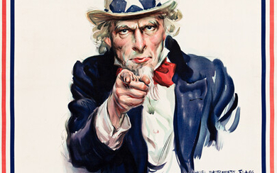 JAMES MONTGOMERY FLAGG (1870 1960) I WANT YOU FOR US ARMY 1