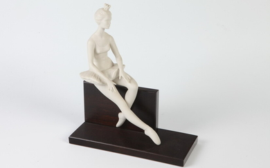 """LIMITED EDITION PORCELAIN FIGURE: """"ON CUE"""". Sculpted as ballerina. Edition..."""