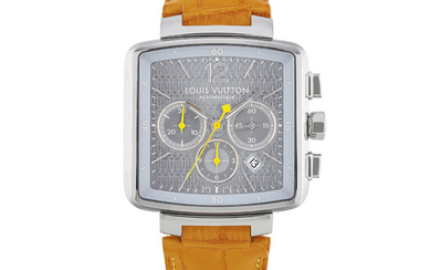 LOUIS VUITTON, STAINLESS STEEL, CHRONOGRAPH WITH DATE