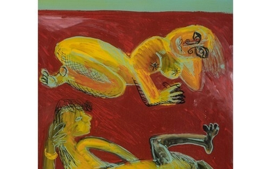 Nicolaas Maritz (South Africa 1959 - ): TWO FIGURES ON THE B...