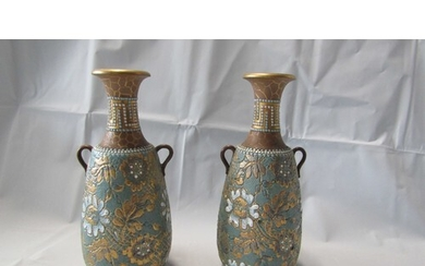 PAIR OF EARLY LAMBERT DOULTON VASES SIGNED IN GOOD CONDITION...