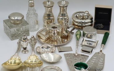 SILVER. Assorted Grouping of Sterling English and