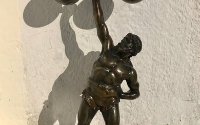 """Sculpture, """"Heracles"""" (1) - Bronze (patinated) - Early 20th century"""