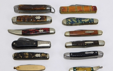 12PC American Assorted Pocket Knives Group