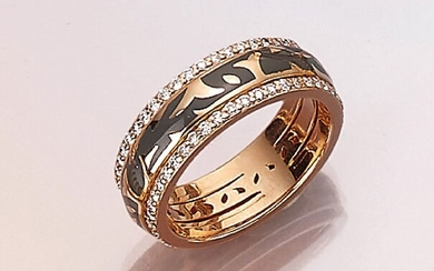 18 kt gold LEO WITTWER ring with...