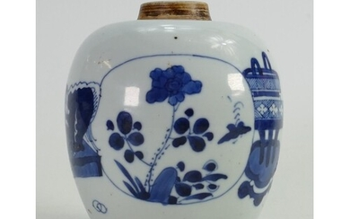 18th century Chinese blue and white porcelain jar: Height 12...