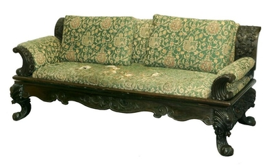 19TH C. CHINESE CARVED SOFA