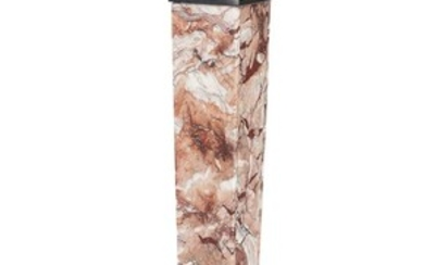 NOT SOLD. A 20th century red and white marble pedestal with square base. H. 111. W. 27. D. 27 cm. – Bruun Rasmussen Auctioneers of Fine Art