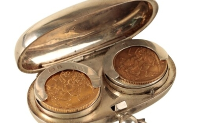 A GEORGE V 1914 GOLD SOVEREIGN, and a George V 1914 gold hal...