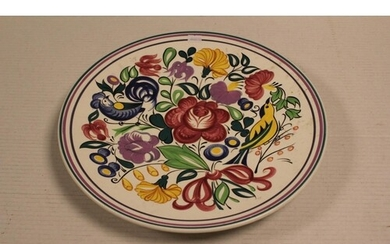 A Large Poole Pottery Plate.