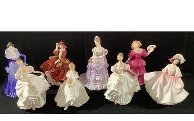 A Royal Doulton figure Sunday Best HN2698; others, Lucy HN36...