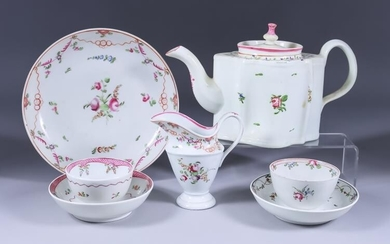 A Small Collection of English Porcelain Tea Wares, 18th/19th...