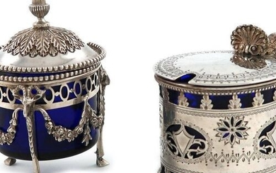 A Victorian silver mustard pot, by Aldewinckle and Slater, London...