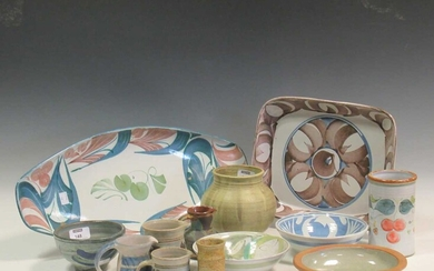 A collection of various Aldermaston pottery and other tin glazed wares (qty)Condition report