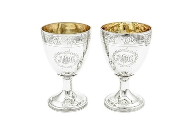 A pair of George III provincial sterling silver