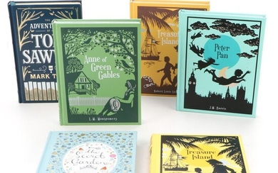 """Barnes & Noble Leather Bound Classics Including """"Peter Pan"""" and """"Secret Garden"""""""
