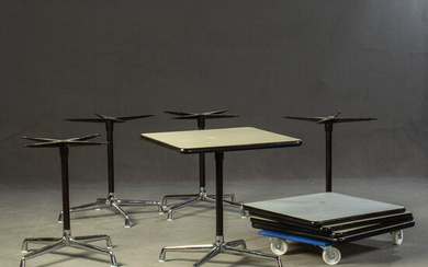 CHARLES & RAY EAMES. 5x Vitra 'Contract Tables'.