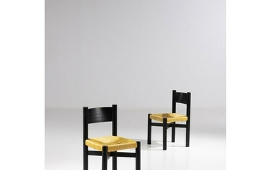 Charlotte Perriand (1903-1999) Pair of chairs