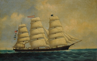 Chinese School, painted with the American Ship George Skolfield