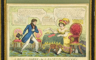 Cruikshank family. Collection of caricatures, 19th century