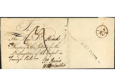 EARLY TRANSATLANTIC MAIL SENT EARLY ON THE WAR OF INDEPENDEN...