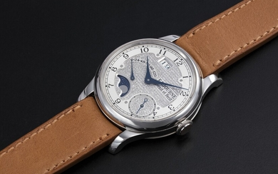 F.P. JOURNE, A PLATINUM AUTOMATIC WRISTWATCH WITH DIAMOND-SET DIAL AND MOON-PHASE, OCTA DIVINE