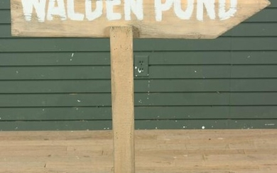 Hand Painted Directional Sign- Walden Pond