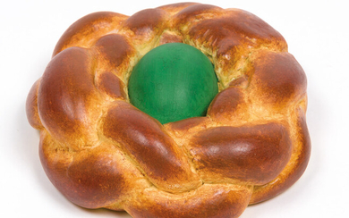 Jeff Koons: Bread with Egg (Green)