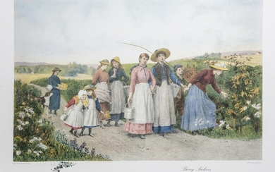 Jennie Brownscombe, Berry Pickers, Poster