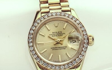 Ladies Rolex 18k Oyster Perpetual Datejust
