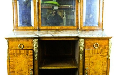 Louis XVI Style Marble Top Buffet
