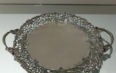 Mid 20th Century Modern Sterling Silver Large Circular