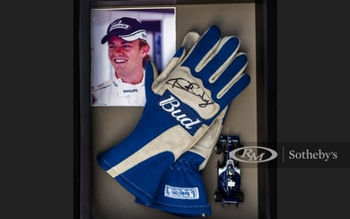 Nico Rosberg Worn and Signed Gloves