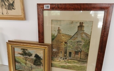 Pair of Miles Sharp Early 20th Century Brighouse Watercolour...