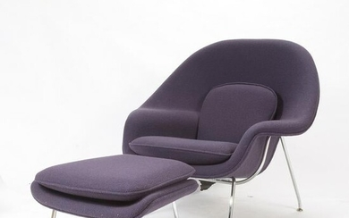 Saarinen for Knoll Womb Chair with Ottoman.