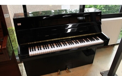 Steinmayer A recent modern style upright piano in a bright e...
