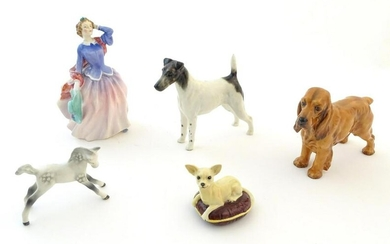 Three Beswick models of animals comprising a Smooth Fox