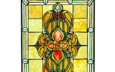 Tiffany Style Stained Glass Hanging Window Panel