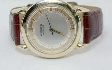 Vintage 14k Gold WITTNAUER Mens Automatic Watch 1960s