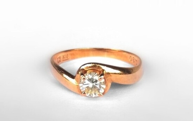 18 kt. Gold - Ring - 0.30 ct